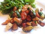 Lax-och zucchinisallad