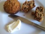 Muffinsen ska ätas med Cream Cheese och fikonmarmelad (hade tyvärr ingen fikonmarmelad)