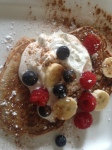 Pancakes with chocolate chip...